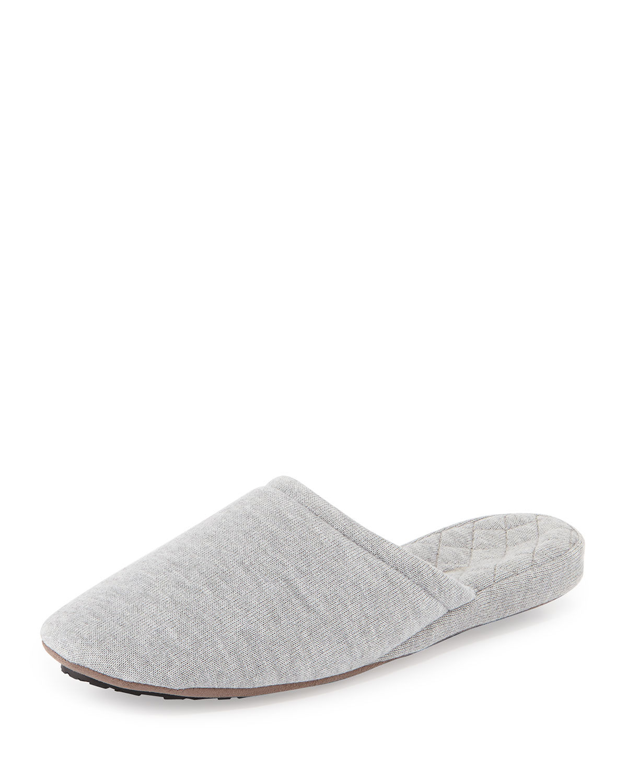 Cashmere-Blend Scuffette Slipper - Acorn