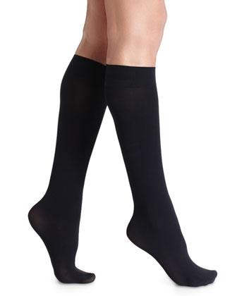 Pure Matte 50 Knee-High Socks, Black