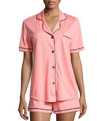 Bella Short-Sleeve Boxer Pajama Set