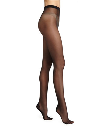 Paris Sheer Tights with Crystal Back, Black/Gold