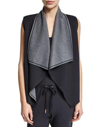Reversible Drape-Front Athletic Vest