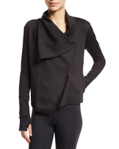 Sophisticate Drape-Front Jacket, Zip-It-Up Mesh Panel Sports Bra & Take ...