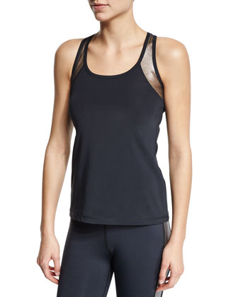 Metallic-Insert Fitted Athletic Tank