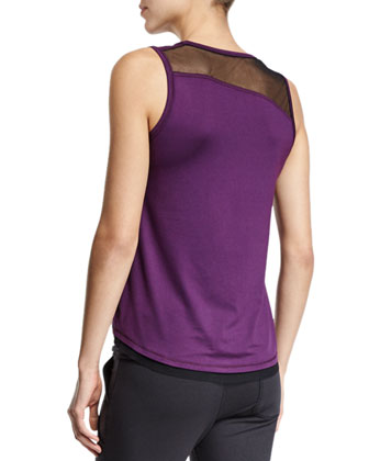 Muscle Mesh-Shoulder Athletic Tank