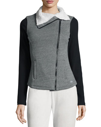 Tao Asymmetrical-Zip Fleece Sport Jacket