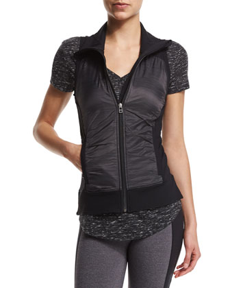 Lakeside Zip-Up Sport Vest, Black