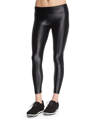 Lustrous Shiny Athletic Leggings