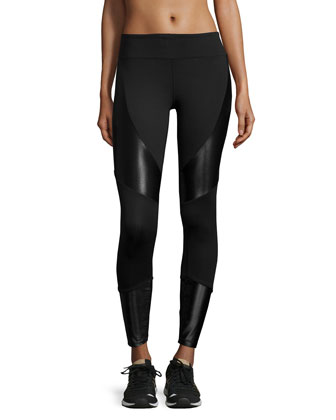 Forge Contrast-Panel Sport Leggings
