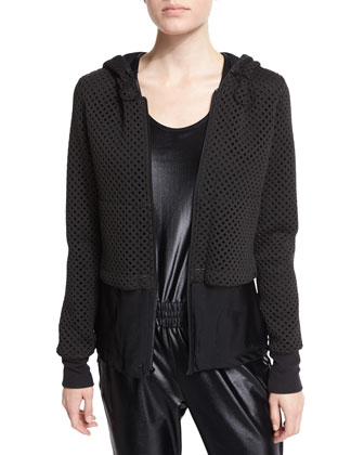 Parallel Double-Layer Hooded Sport Jacket