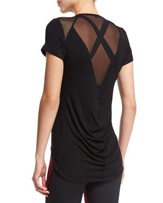 Cyclone Short-Sleeve Sport Top, Black