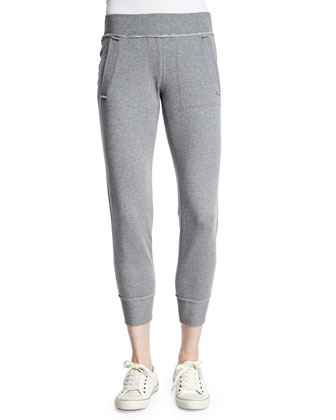 Classic Side-Stripe Jogger Pants, Light Gray