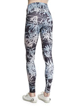 High-Rise Printed Sport Leggings, Bamboo