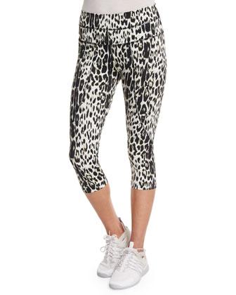 Pico Crop Leopard-Print Sport Leggings