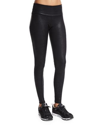 Embossed Long Sport Leggings, Coccodrillo
