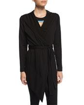 Long-Sleeve Blanket Wrap Sweater, Contour Colorblock Sports Bra & Contour ...