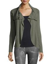Shale Drape-Collar Sport Jacket