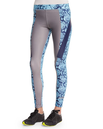 Run Tech-Fit Leggings, Mystery/Blue