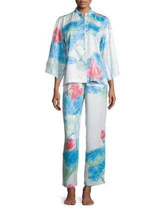Lian Floral-Print Pajama Set