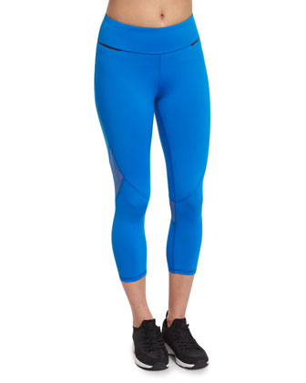 Captain Cropped Tights/Sport Leggings, Skydiver