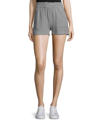 Striped Boyfriend Sport Shorts