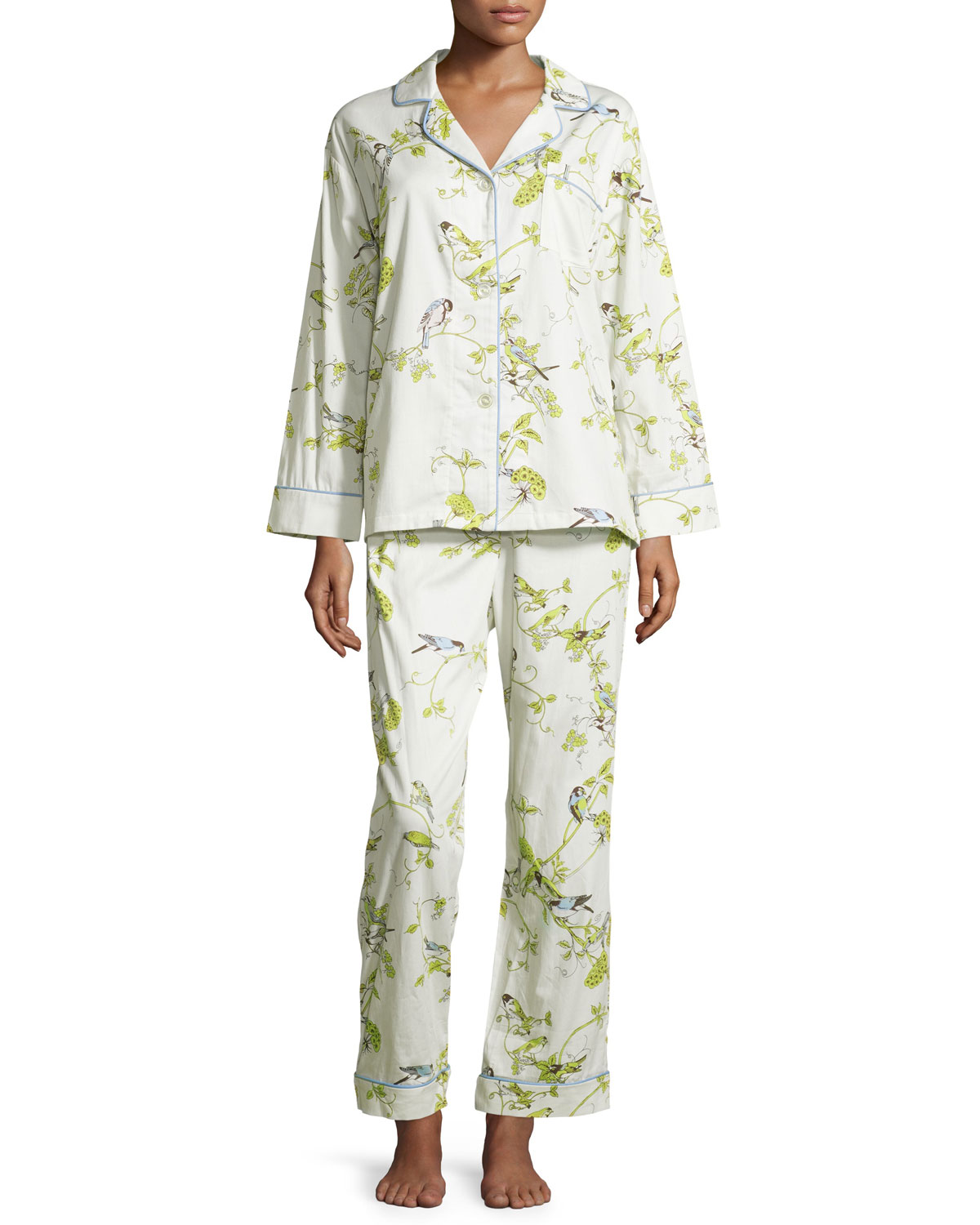 Winter Cardinal Classic Pajama Set, Birds and Branches, Size: LARGE, Birds & Branches - Bedhead