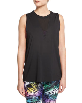 Triangle Sport Tank with Mesh-Insert