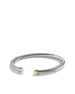David Yurman Cable Classics Collection Bracelet, Pearl, 5mm