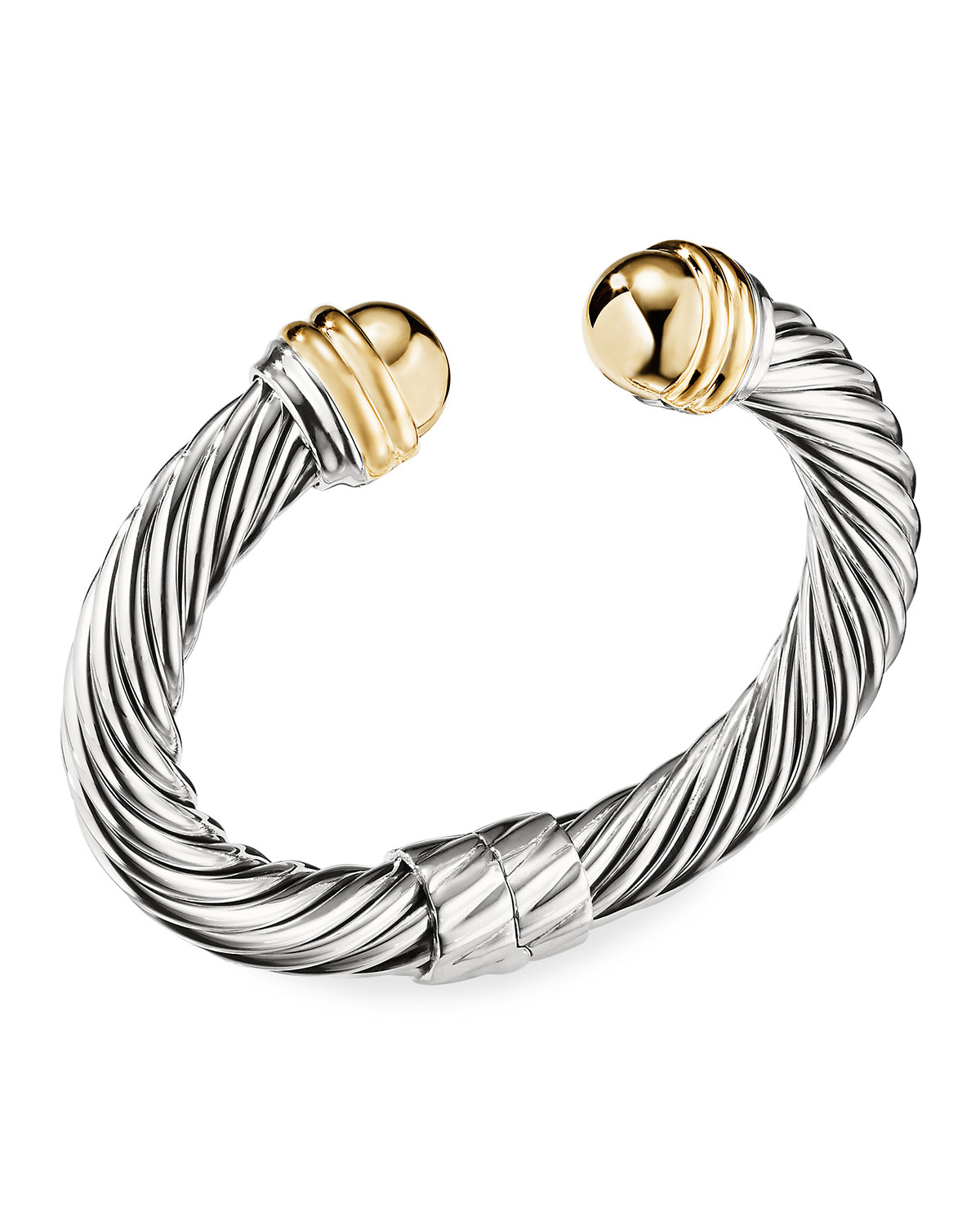 Cable Classics Bracelet with Gold Domes