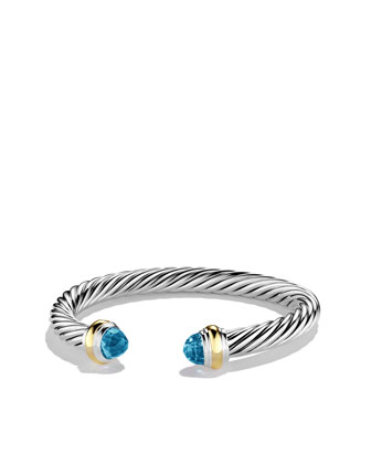 Cable Classics Bracelet with Blue Topaz and Gold
