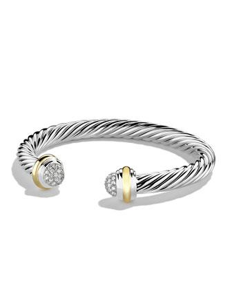 7mm Silver Ice Bracelet