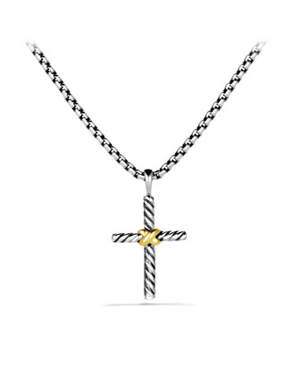 Petite X Cross with Gold on Chain