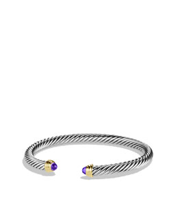 David Yurman Cable Classics Collection Bracelet, Amethyst, 5mm