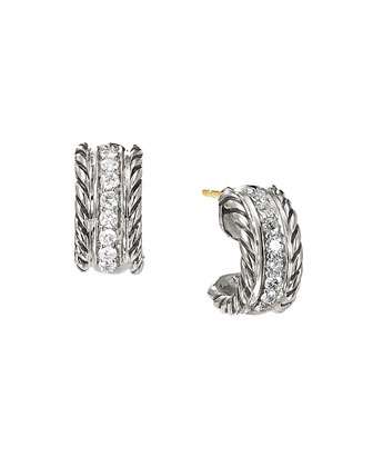 Cable Classics Extra-Small Earrings with Diamonds