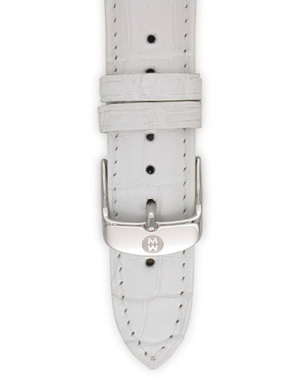 White Gator Strap, 16mm