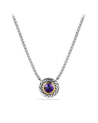 Color Classics Pendant with Amethyst and Gold on Chain