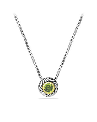 Color Classics Pendant with Peridot and Gold on Chain