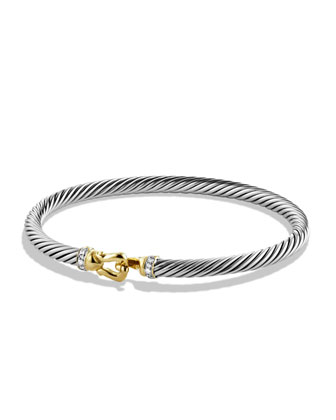 Cable Buckle Bracelet, Diamond, 4mm