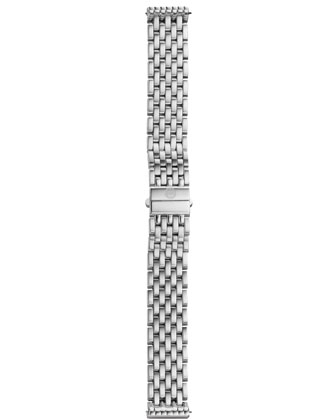 Deco 16 Stainless Watch, White Diamond Dial