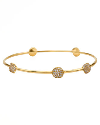 Stardust 18k Gold Five-Flower Diamond Bangle