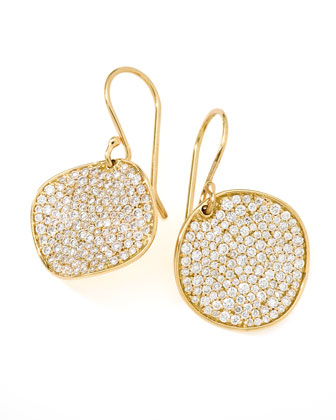 Stardust Round Diamond Pave Drop Earrings