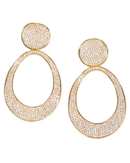 Stardust 18k Gold Open Oval Snowman Earrings
