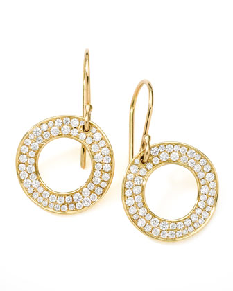 Stardust Open Circle Drop Earrings