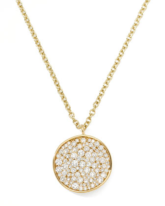 Stardust Disc Pendant Necklace
