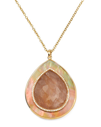 Ondine Quartz Teardrop Pendant Necklace