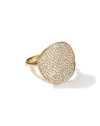 Stardust Wavy Disc Diamond Ring