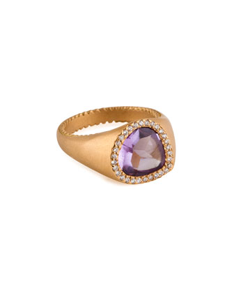 Bisou Amethyst & Diamond Ring