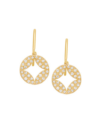 Aladdin 18k Pave Diamond Earrings