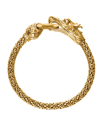 Gold Naga Dragon O-Ring Bracelet