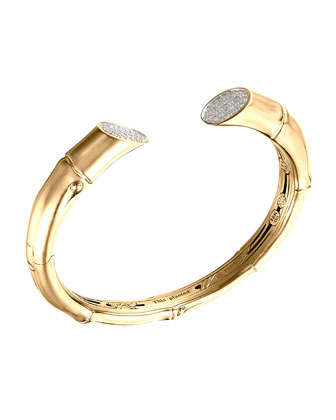 Pave Diamond Bamboo Kick Cuff