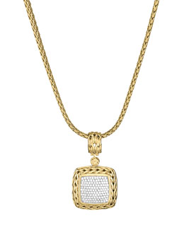 John Hardy Gold Pave Diamond Medium Pendant